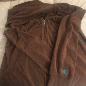 Brown express terry sweatshirt